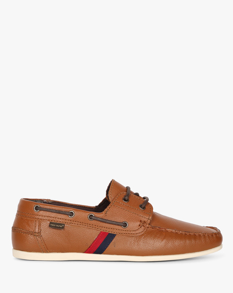 Genuine Leather Boat Shoes By RED TAPE ( Tan )