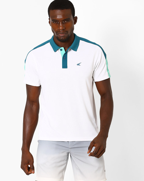 Quick Dry Polo T-shirt By PERFORMAX ( White )