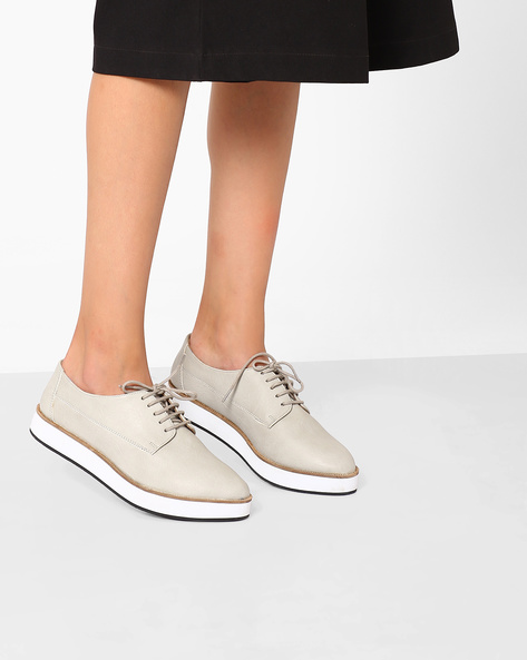 Casual Shoes With Lace-Ups By Inara ( Grey )