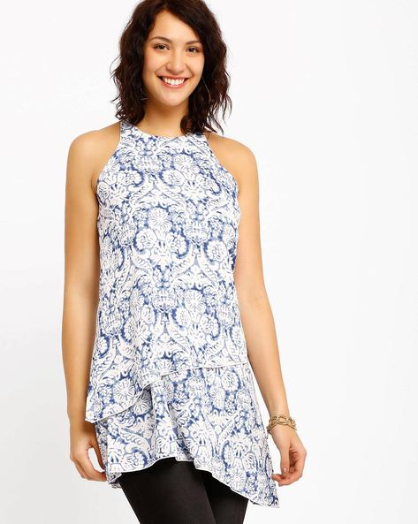 Printed Asymmetrical Dress By Oxolloxo ( Offwhite )