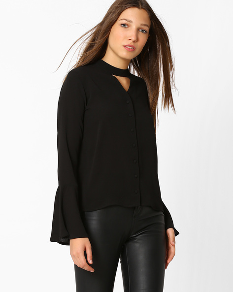 Top With Bell Sleeves By Femella ( Black )
