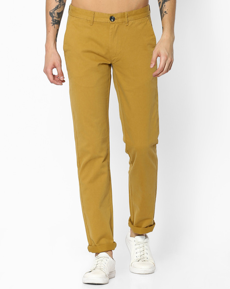 Low-Rise Slim Fit Casual Trousers By WRANGLER ( Khaki )