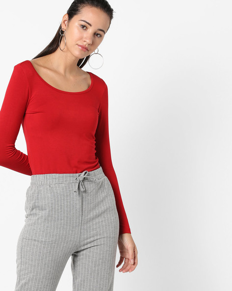 Top With Full Sleeves By CODE By Lifestyle ( Red )