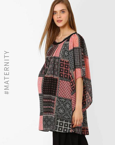 Printed Maternity Lace Tunic By Oxolloxo ( Multi )