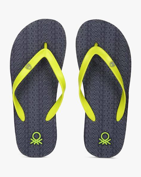Flip-Flops With Signature Branding By UNITED COLORS OF BENETTON ( Navy )