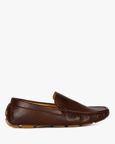 Sailor II Brown Moccasins With Lugged Outsole By Spunk ( Brown )