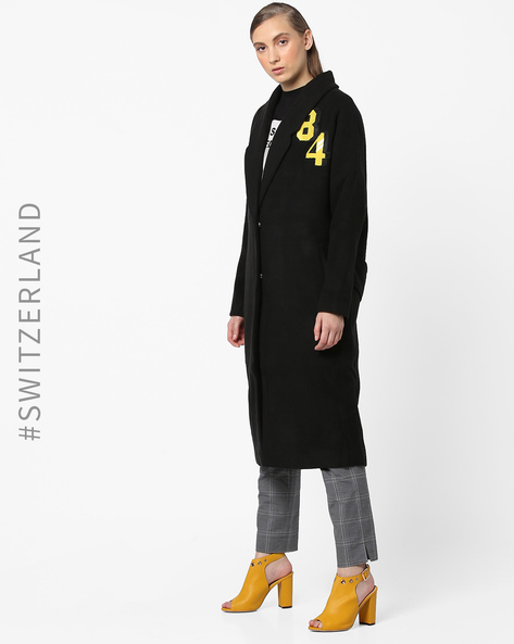 Trench Coat With Notched Lapels By TALLY WEiJL ( Black )