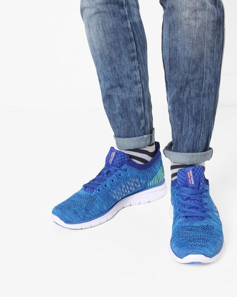 Textured Lace-Up Sports Shoes By RED TAPE ( Blue )