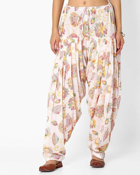Floral Print Patiala Pants With Dupatta Set By Stylenmart ( Multi ) - 460033311001