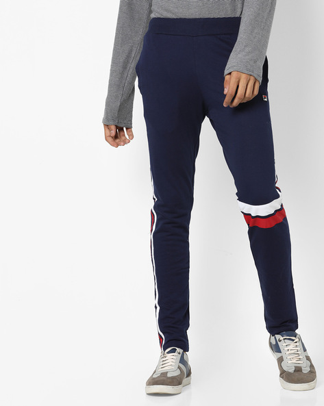 Domain Track Pants With Contrast Stripes By FILA ( Blue )