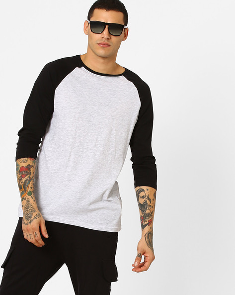 Raglan T-shirt With Contrast Sleeves By Blue Saint ( Multi )