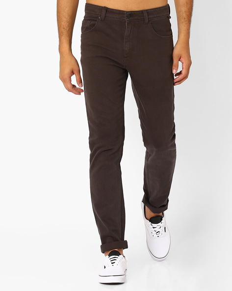 Slim Fit Mid-Rise Jeans By Blue Saint ( Olive )