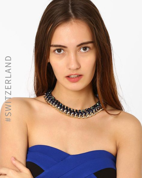 Beaded Collar Necklace By TALLY WEiJL ( Gold )