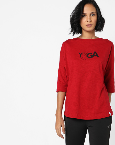 Panelled High-Low T-shirt With Drop Sleeves By 2Go ( Red )
