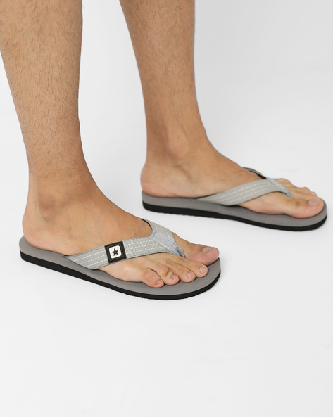 Flip-Flops With Signature Branding By CONVERSE ( Gray )