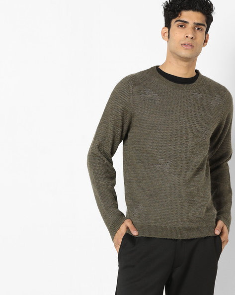 Crew-Neck Pullover With Ribbed Hems By GAS ( 2643 )