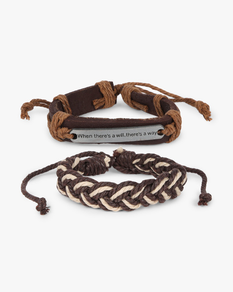 Set Of 2 Bracelets By ALPHA MAN ( Brown )