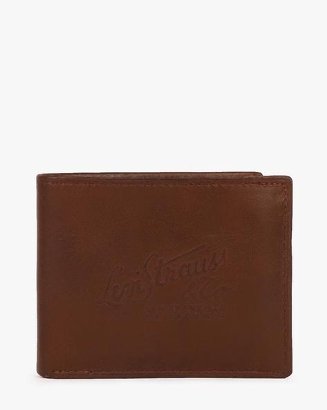 Faux Leather Bi-Fold Wallet By LEVIS ( Brown ) - 460028269002