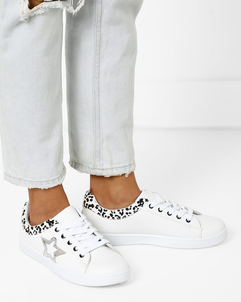 Low-Top Lace-Up Shoes By Lavie ( White ) - 460163854005