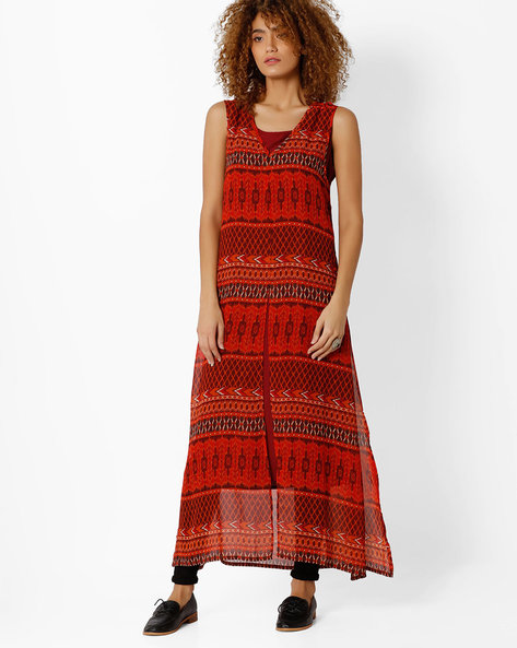 Printed Maxi Dress By Global Desi ( Multi )