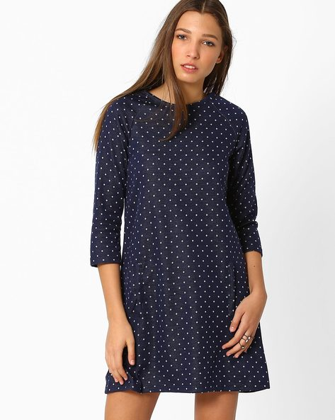 A-line Dress With Pockets By ANONYMOUS CO ( Blue )