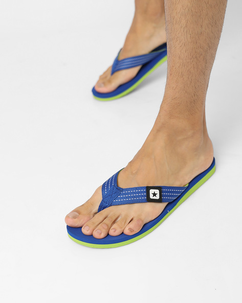 Flip-Flops With Signature Branding By CONVERSE ( Blue )