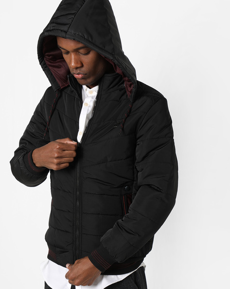 Quilted Jacket With Hood By Fort Collins ( Black )