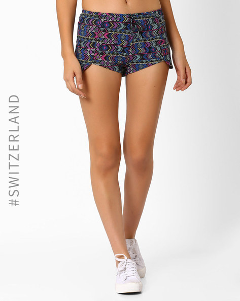 Printed Shorts With Tulip Hemline By TALLY WEiJL ( Black )