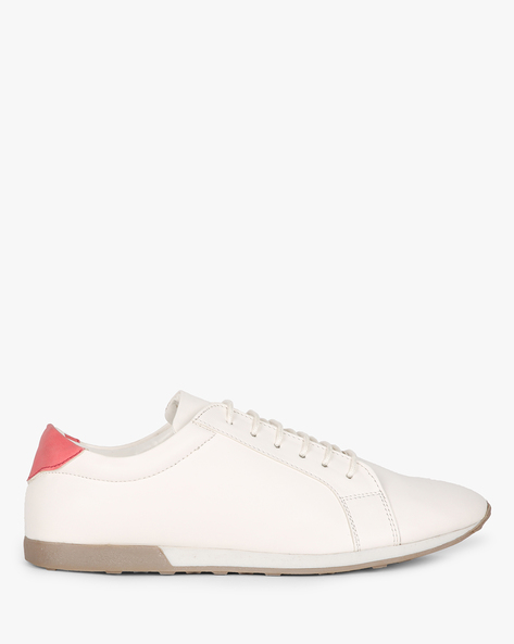 Low-Top Lace-Up Shoes By AJIO ( White )