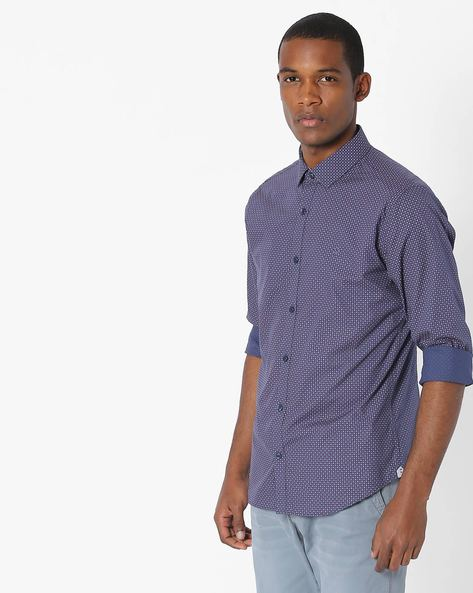 Geometric Print Slim Shirt By UNITED COLORS OF BENETTON ( Assorted )