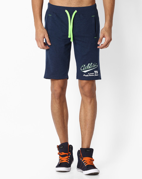 Knitted Shorts With Drawstring Fastening By TEAM SPIRIT ( Navy )