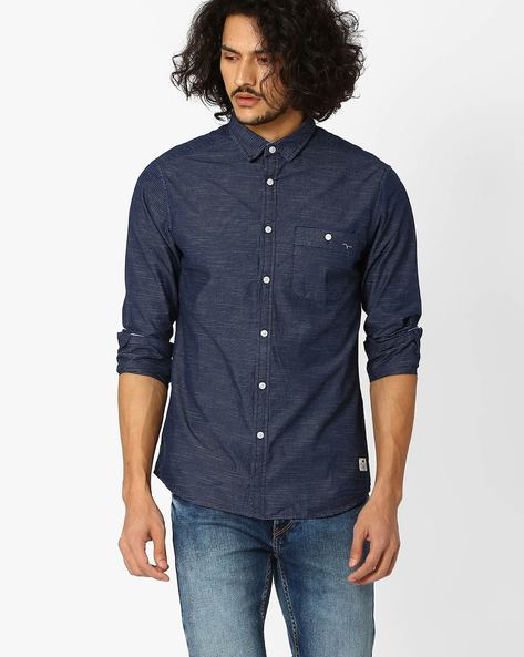 Regular Fit Striped Cotton Shirt By FLYING MACHINE ( Assorted )