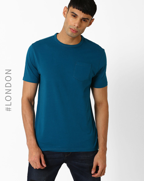 Stay Soft Slim T-shirt With StayNEW By Marks & Spencer ( Teal )