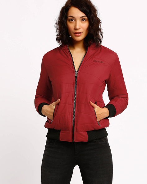 Quilted Jacket By Fort Collins ( Maroon )