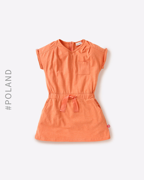 Dress With Elasticated Waist By COCCODRILLO ( Orange )