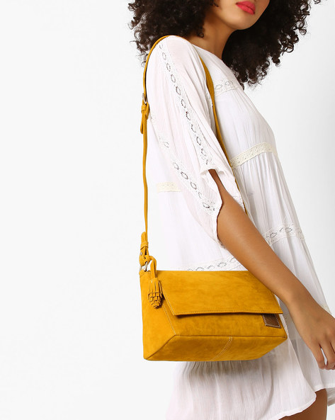 Sling Bag With Tassels By Gusto ( Mustard )