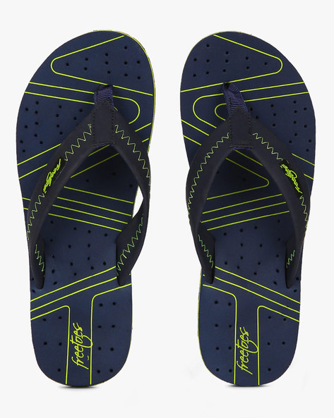 Printed Flip-Flops With Perforation By Freetoes ( Navy )