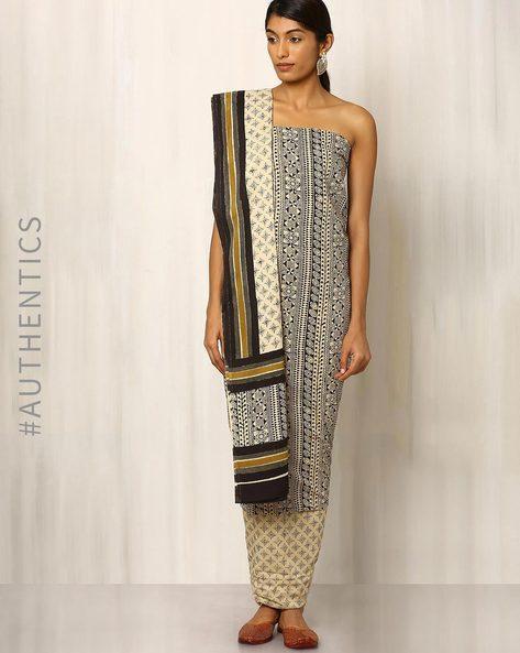 Bagru Print Cotton Dress Material By Indie Picks ( Multi ) - 460016891001