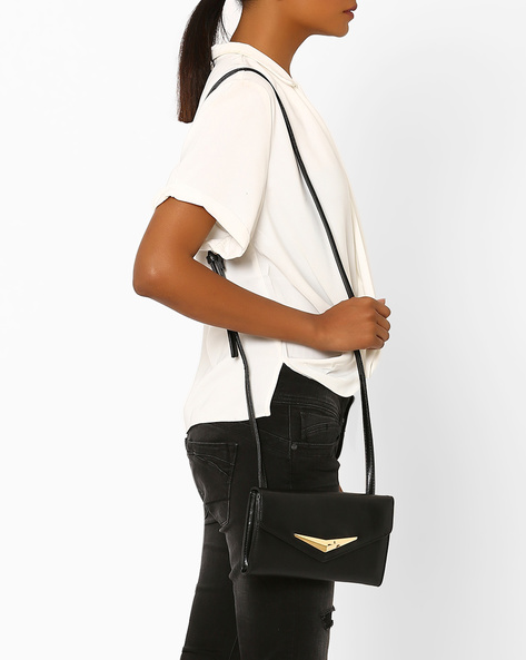 Envelope Sling Bag By Addons ( Black )
