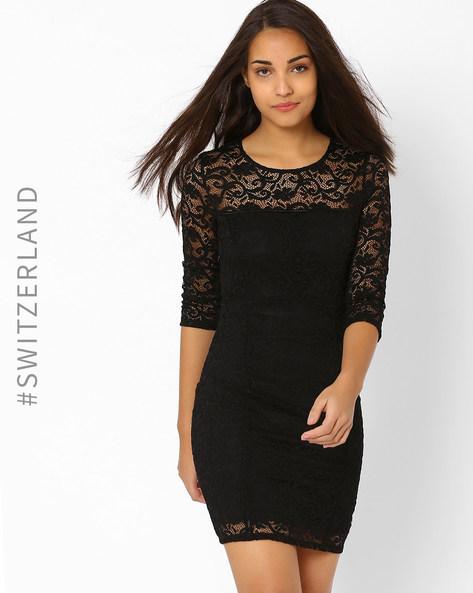 Bodycon Lace Dress By TALLY WEiJL ( Black )