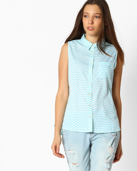 Shirt With Patch Pocket By Fame Forever ( Mint )