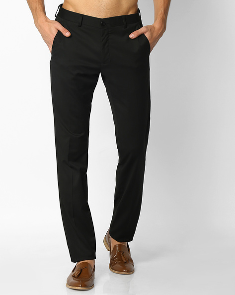 Slim Fit Formal Trousers By NETWORK ( Black )