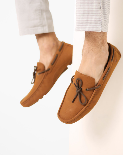 Boat Shoes With Square-Toe By Bond Street By Red Tape ( Tan )