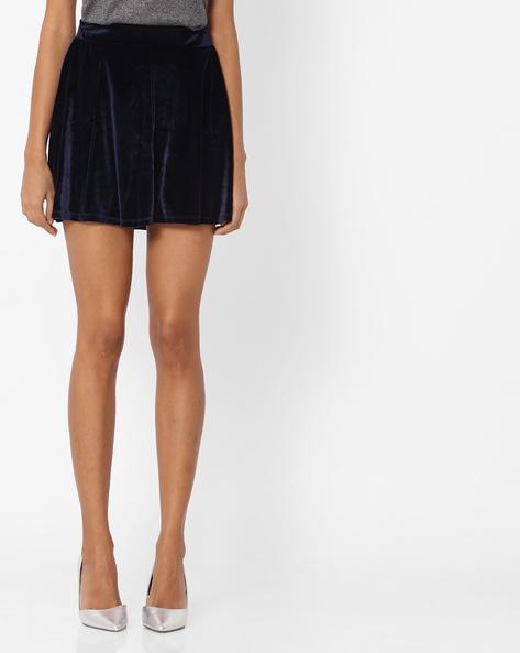 Flared Mini Skirt By Vero Moda ( Blue )