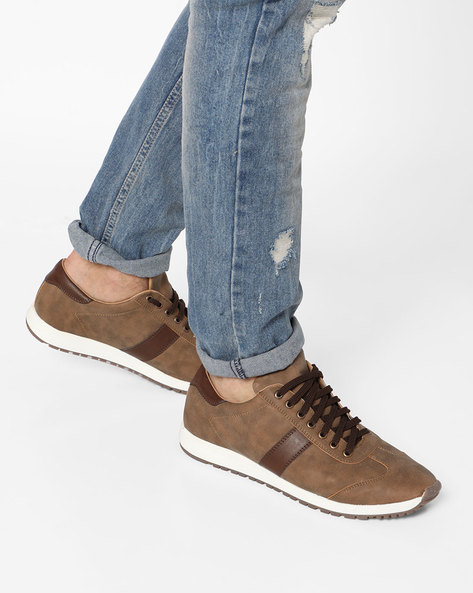 Lace-Up Casual Shoes By Knotty Derby ( Tan )