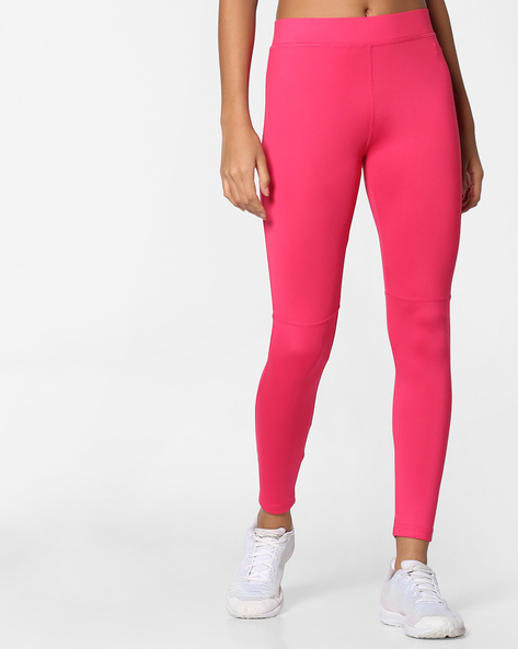 Panelled Leggings With Elasticated Waistband By PE WW At Leisure ( Pink )