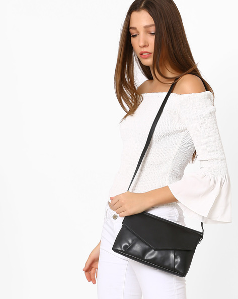 Envelope Sling Bag By Pockit ( Black )
