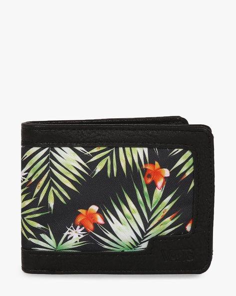 Floral Print Wallet By Vans ( Green )
