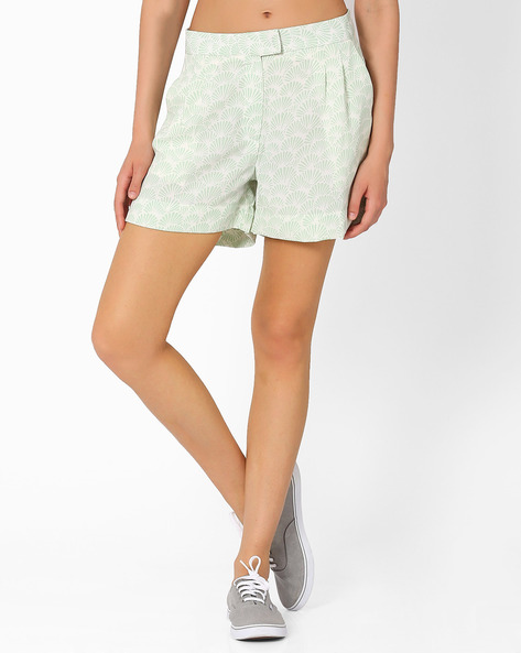 Printed Shorts By AJIO ( Olive )