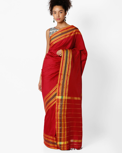 Mysore Art Silk Saree By Amori ( Red )